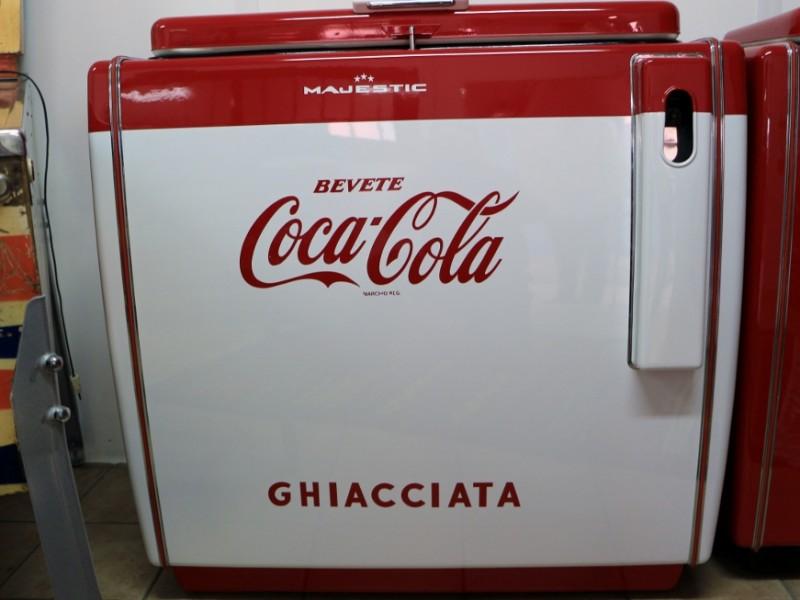 ghiacciaia Majestic Coca Cola bianco
