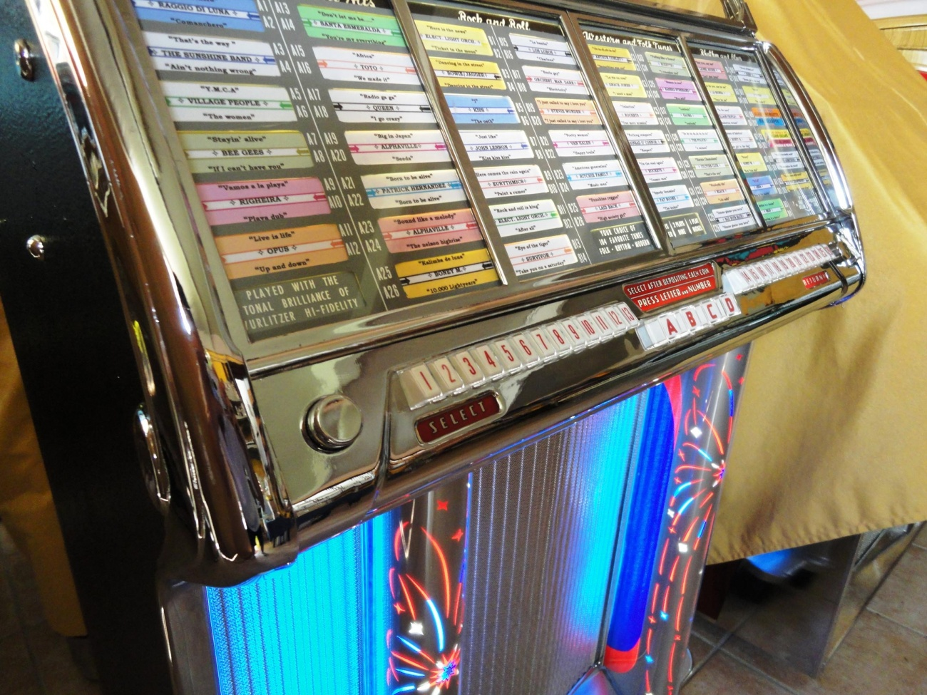 jukebox wurlitzer 1800